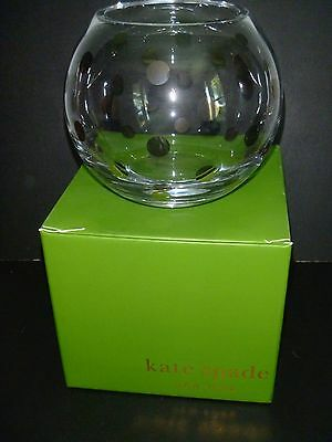 Kate Spade Crystal Pearl Place Platinum Rose Bowl/Vase-Brand New in Box