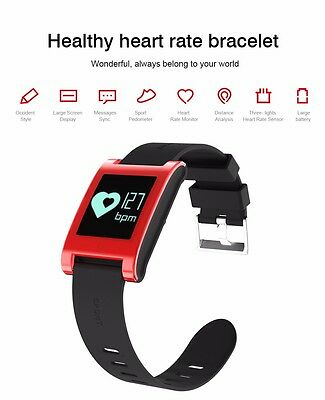 New Bluetooth Smart Bracelet Heart Rate Blood Pressure Monitor Pedometer Fitbit