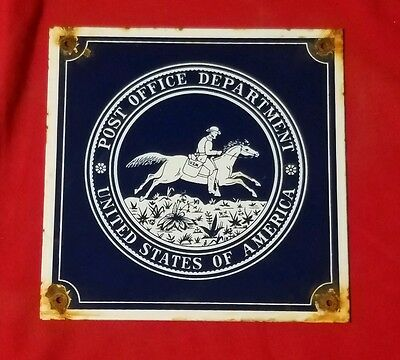 United States of America post office department porcelain sign