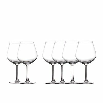 NEW Maxwell & Williams Cosmopolitan Burgundy Glass 710ml Set of 6 (RRP $50)