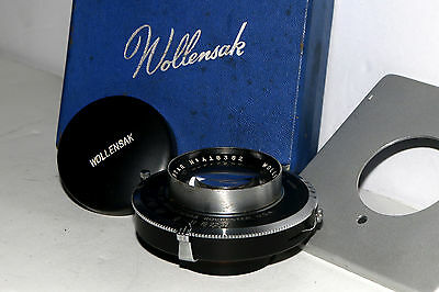 Wollensak 162mm f/4.5 Raptar Rapax Synchromatic Shutter With Board & Box Exc