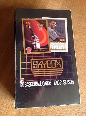 UNOPENED BOX NBA SKYBOX 1990 BASKETBALL TRADING CARDS Patrick Ewing Sealed!