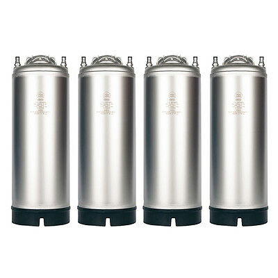 New Amcyl 5 Gallon Single Handle Ball Lock Keg - 4 Pack