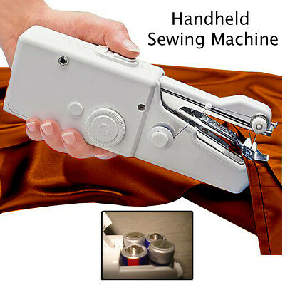 Hand Held Sewing Machine Mini Portable Easy Home Travel Stitch Sew DIY Battery