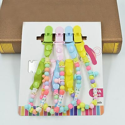 Teething Soother High Quality Dummy Pacifiers Beads Chain Clip Holder Strap