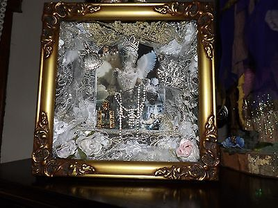 ooak Marie Antoinette altered art shadowbox  rhinestones