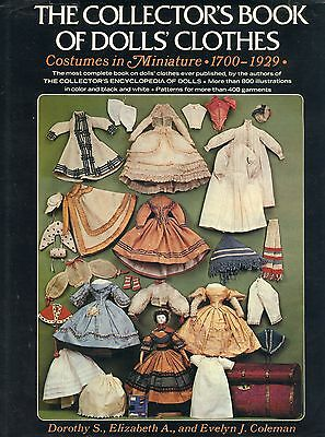 Antique Doll Clothes (1700-1929) Dresses Headwear Underwear Shoes / Scarce Book