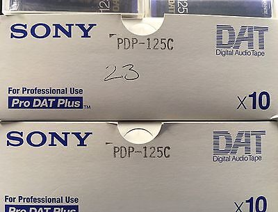 Brand New Sealed Sony DAT Cassette Tape 125C
