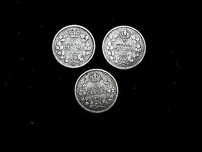 5 Cent Canada Or Canadian Silver Coin Lot