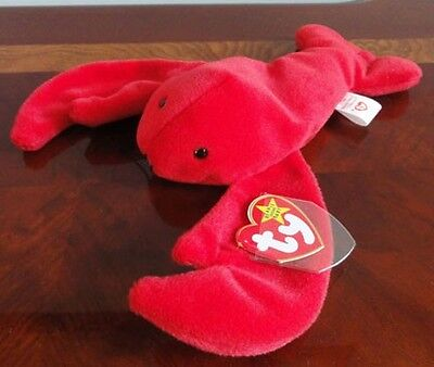 TY BEANIE BABIES BABY PINCHERS the RED LOBSTER MWMT DOB 6-19-93 style 4026 PVC