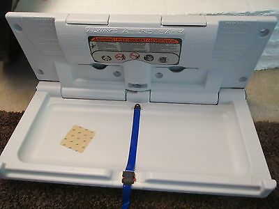 New Continental 8252-H White Horizontal Baby Diaper Changing Station Ada 5166558