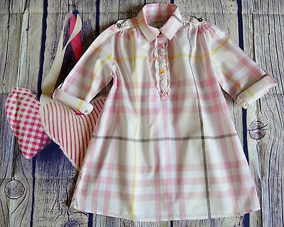 Burberry Girls Designer Pink Cotton Summer Shirt Style Dress 5 Years Worn Once