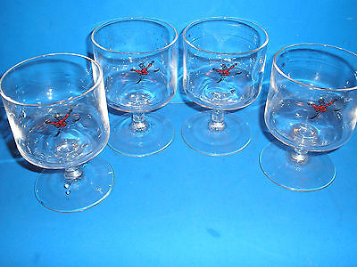 GILBEY'S VODKA - Set of 4 Stemmed Glasses