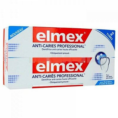 Elmex Dentifrice Anti Caries Professional Lot De 2 Tubes De 75 Ml