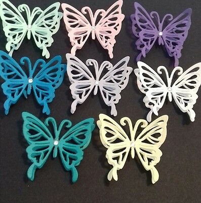 20 3d butterfly die cuts with hearts card making weddings
