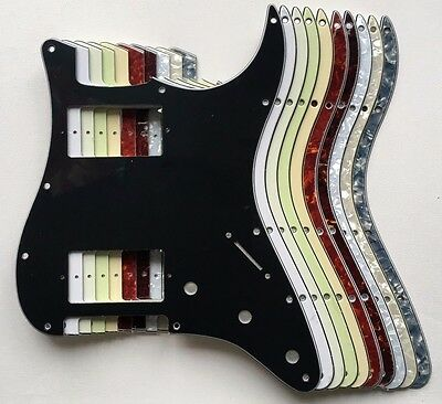 Stratocaster PAF HxH Pickguard various colours 11 hole Strat HH 3 4 ply