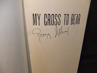 Gregg Allman Signed Book My Cross To Bear Autograph Autographed Allman Brothers