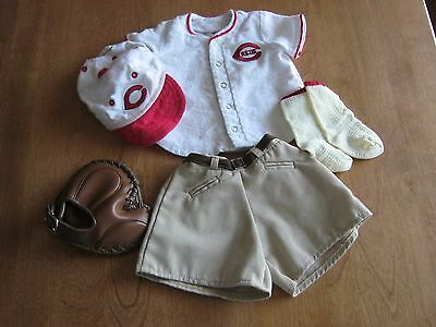 Authentic American Girl Clothes - Kit's Cincinnati Reds Baseball Fan Outfit