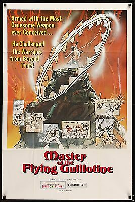 MASTER OF THE FLYING GUILLOTINE 1976 Movie Poster 27x41 #KungFu #MoviePoster
