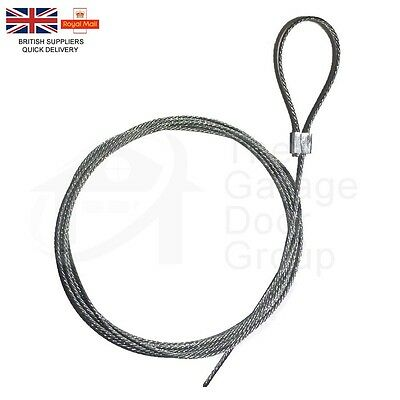Universal Garage Door Lock Handle Cable Latch Steel Rope Wire Cord Repair Spares