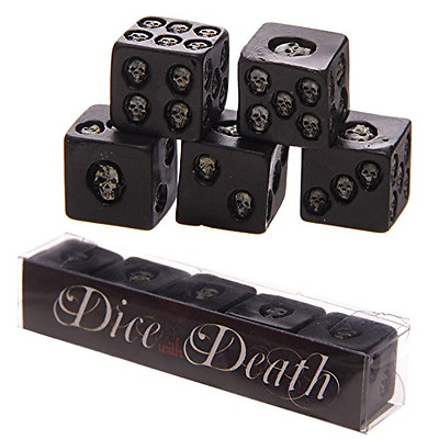 Puckator SK200, Set of 5 Six-Sided Die with Inlaid Skulls