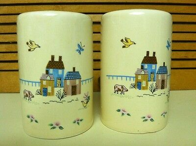 International China Heartland Salt and Pepper Shakers  Country Decor