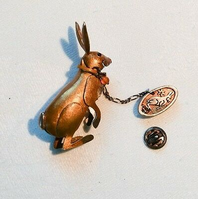 Sterling Silver Carol Mather Silversmith Hare Brooch - Quite Exquisite!