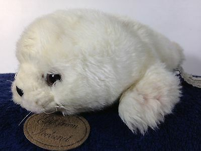 "Russ Gift From Iceland White Baby Harp Seal Sea Lion Soft Plush Toy 9"" TAG"