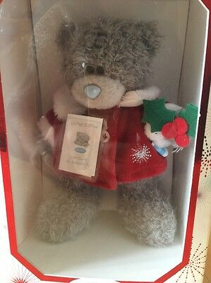 Boxed Me To You Tatty Teddy In Red Coat With Holly - Limited Edition.