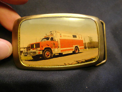 Vintage Fire FAIRMOUNT CO. Truck Belt Buckle Solid Brass Used