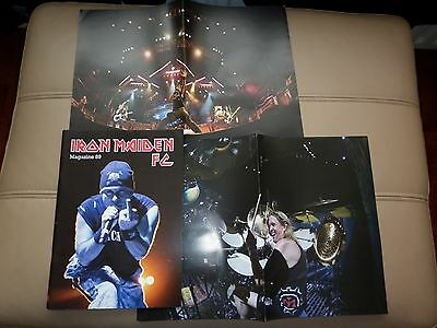Iron Maiden Fan Club Magazine No 89 and 2 posters