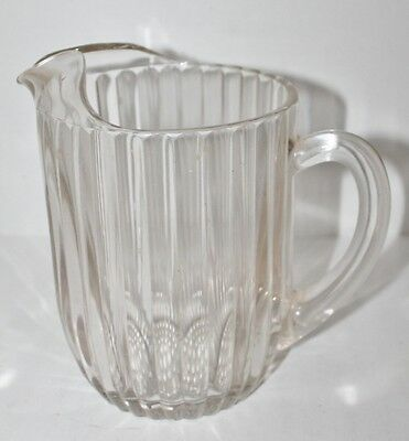 Vintage Anchor Hocking Depression Glass Clear Rib Bubble Pitcher - 7.5""
