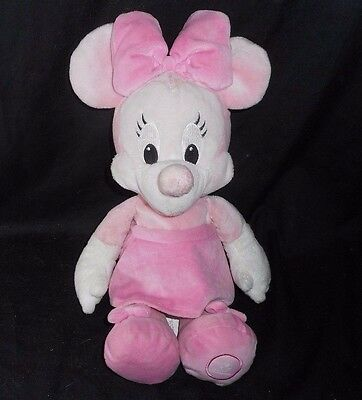 """14"""" Disney Store Pink Baby Minnie Mouse Snuggies Stuffed Animal Plush Toy Doll"""