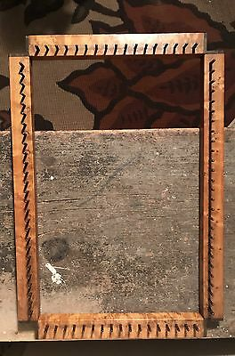 Antique Birds Eye Maple Wood & Brass Rectangular Square Loom OLD! Vtg Rag Loop