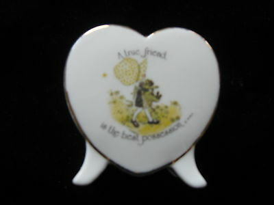 Vintage Holly Hobbie A True Friend Is THe Best Possession Heart  Candle Holder