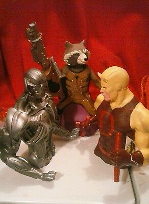 Marvel Coin Bank Lot Ultron Daredevil Rocket Racoon