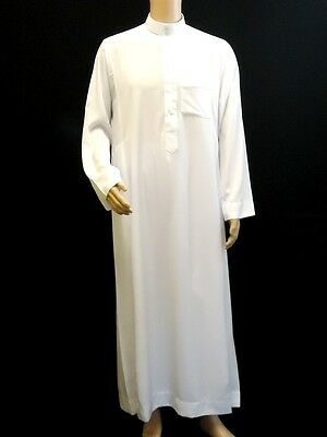 Al Daffah saudi style Arabic Jubba Thobe Islamic Muslim Men Thawb Dress 60XL