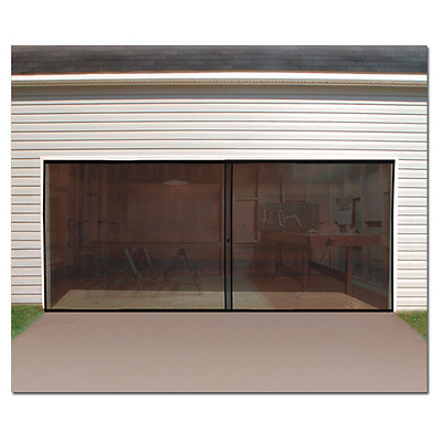 Double Garage Door Screen Magnetic Closure Mosquito Net Insects Bugs Mesh Fly