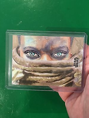 Topps Star Wars Rogue One sketch card Jalice Andit by Brad Utterstrom 1/1 AP