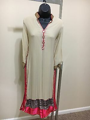 Indian Pakistan Bollywood Kurti Women CHIFFON Designer Dress Top US size 41