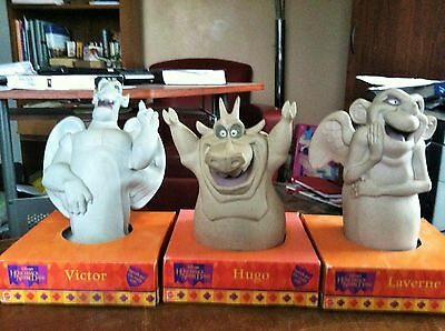 "3 Mattel Disney's 9"" Hunchback of Notre Dame ""Victor"" ""Laverne"" and ""Hugo""New"