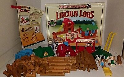 Lincoln Logs Set~Dairy Time Barn~Complete With Instructions