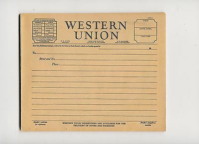4  WESTERN UNION telegrams  NEW old stock  1930's   R.B. White Pres.  1933
