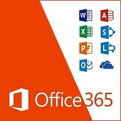 Microsoft Office 365 Pro LIFETIME Subscription 5 Users PC/Mac 2016