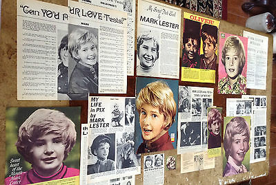 Lot Vintage Clippings ~ MARK LESTER ~ 1960s pics ~ Oliver ~ Melody ~ Child Actor