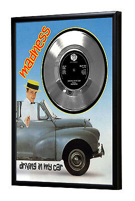 Madness Driving In My Car Framed Silver Disc Record Vinyl (C1)