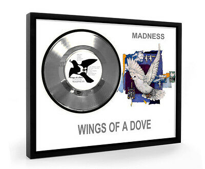 Madness Wings Of A Dove Framed Silver Disc Display Vinyl (C1)