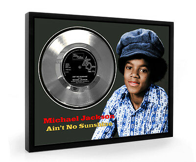 Michael Jackson Ain't No Sunshine Framed Silver Disc Display Vinyl (C1)