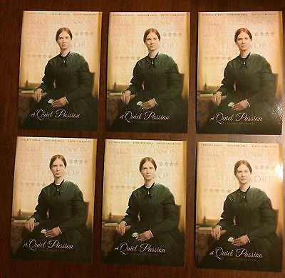 Lot of Six A Quiet Passion Mini Promotional Poster Cards Cynthia Nixon