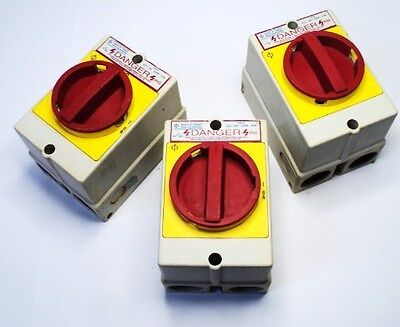Lot Of 3!! Kracs & Naimer Kg10 Rotary Safety Switch W/ Motor Controller 20A 3Ph